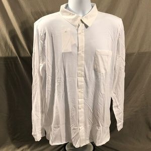 Onia Brand White Cameron Knit Long Sleeve Shirt
